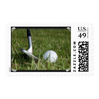 Golfing Photo Postage Stamp