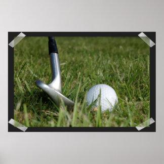 Golfing Photo Poster
