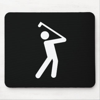 Golfing Pictogram Mousepad