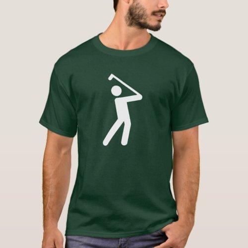 Golfing Pictogram T_Shirt