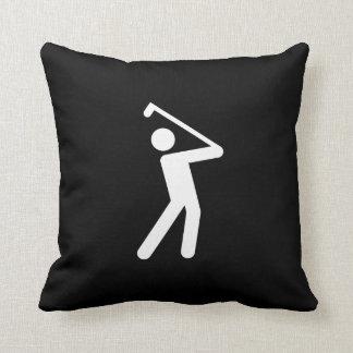 Golfing Pictogram Throw Pillow
