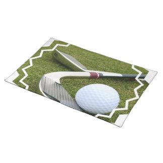 Golfing  Placemat Cloth Place Mat