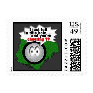Golfing Stamp