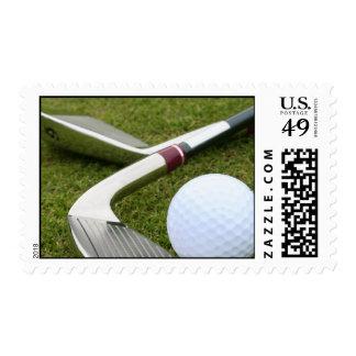 Golfing Postage Stamp