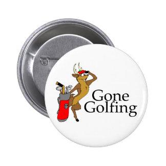 Golfing Reindeer Button