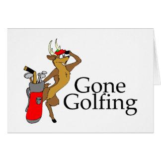 Golfing Reindeer Cards