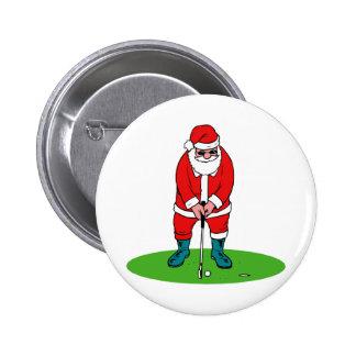Golfing Santa Pins