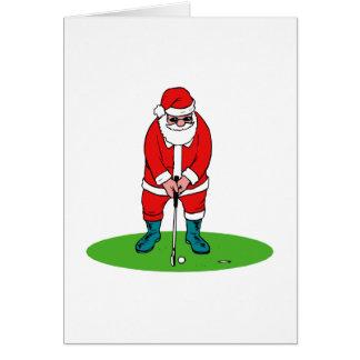 Golfing Santa Cards