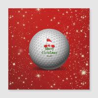 Golfing Santa, colorful Christmas design