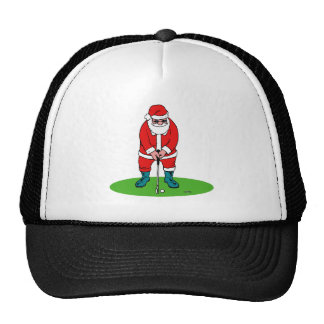 Golfing Santa Hat