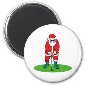Golfing Santa Magnets