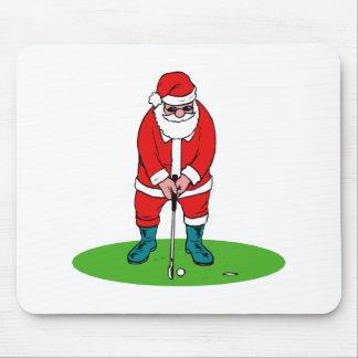 Golfing Santa Mouse Pads
