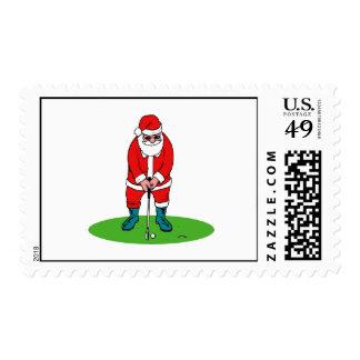 Golfing Santa Postage