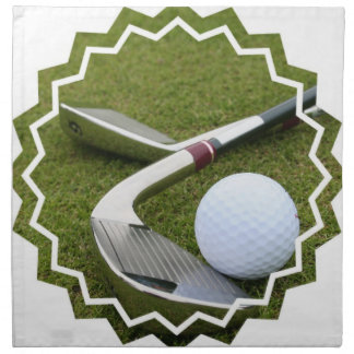 Golfing  Set of Four Napkins