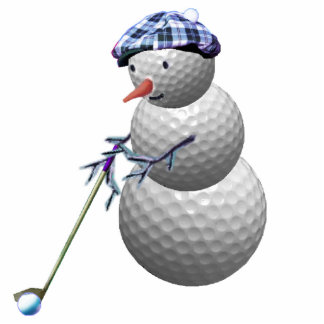 golfing snowman christmas cut outs