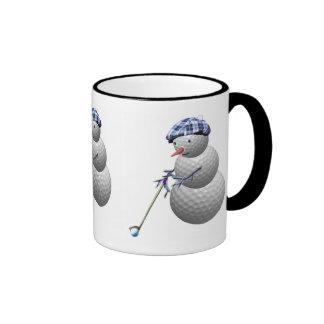 golfing snowman, golfing snowman, golfing snowman ringer mug