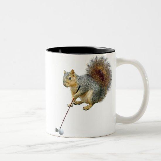 Golfing Squirrel Mug