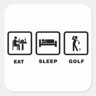 Golfing Square Stickers