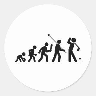 Golfing Round Stickers