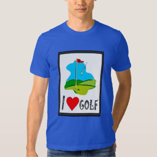 Golfing T shirt,  I love golf, marker flag T-shirt