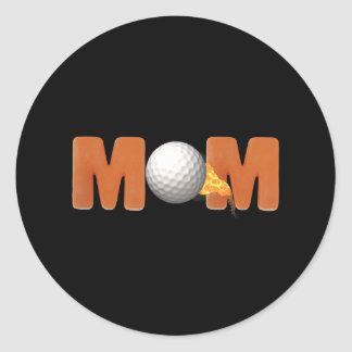 Golfing T-shirts and Gifts For Mom Classic Round Sticker