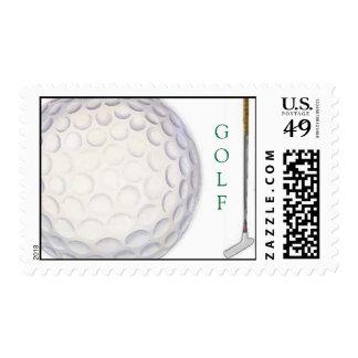 Golfing theme stamp