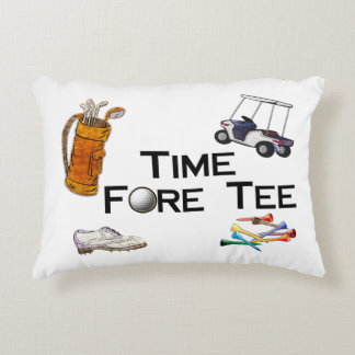 Golfing Time Fore Tee Decorative Pillow