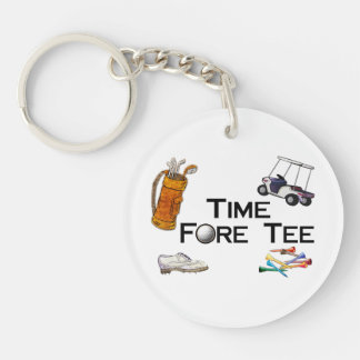 Golfing Time Fore Tee Keychain