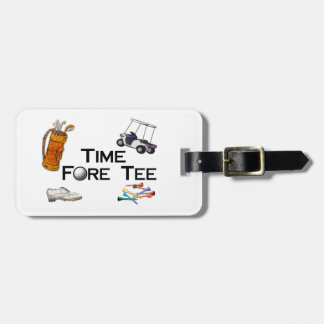 Golfing Time Fore Tee Luggage Tag