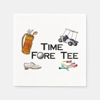 Golfing Time Fore Tee Paper Napkin