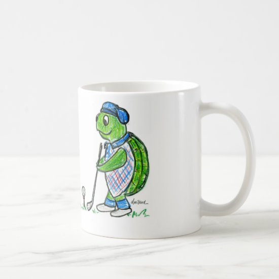 Golfing Turtle Coffee Mug