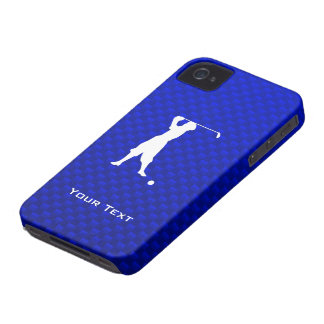 Golfista azul del vintage iPhone 4 cobertura