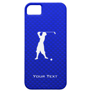 Golfista azul del vintage iPhone 5 funda