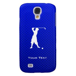 Golfista azul del vintage