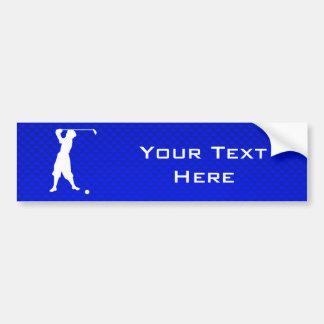 Golfista azul del vintage pegatina para auto