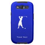 Golfista azul del vintage samsung galaxy s3 fundas