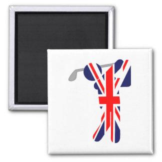 Golfista británico - símbolo del golf iman de frigorífico