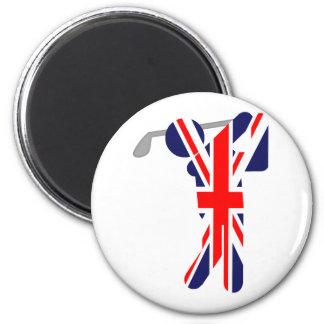 Golfista británico - símbolo del golf imanes para frigoríficos