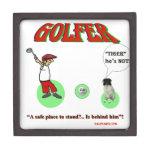 golfista cajas de joyas de calidad