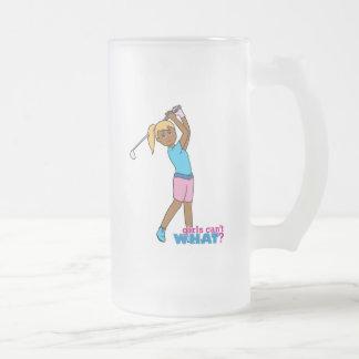 Golfista-chica 4 jarra de cerveza esmerilada