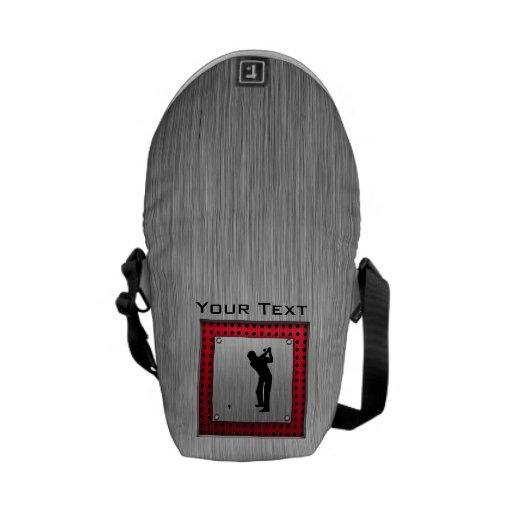 Golfista de aluminio cepillado de la mirada bolsas de mensajería