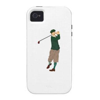 Golfista de antaño vibe iPhone 4 fundas