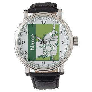 Golfista de encargo relojes de pulsera