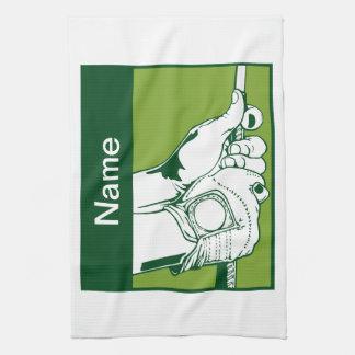 Golfista de encargo toalla