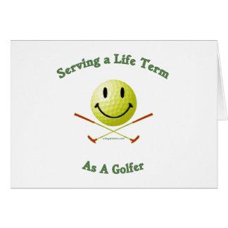 Golfista de la cadena perpetua tarjeta pequeña