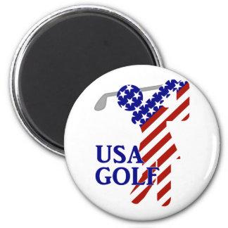 Golfista de la mujer de los E E U U - símbolo del Iman De Nevera