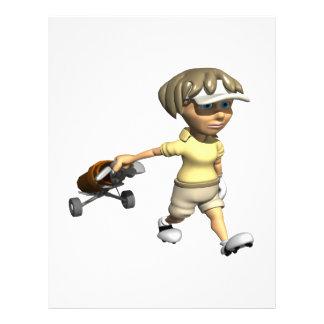 "Golfista de la mujer folleto 8.5"" x 11"""