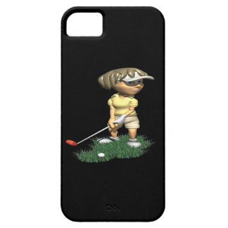 Golfista de la mujer funda para iPhone SE/5/5s