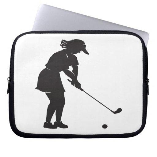 Golfista de la mujer fundas portátiles