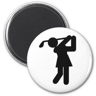 Golfista de la mujer - símbolo Golfing Iman De Frigorífico